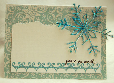 Peace on earth large snowflake