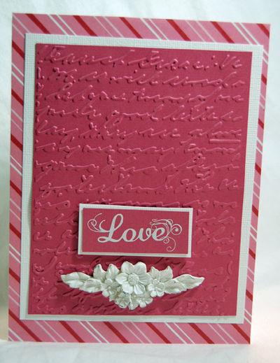 Embossed pink love