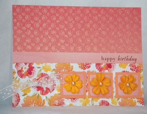 Happy birthday in peach April09