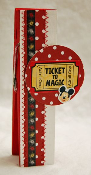 Ticket to magic clothespin