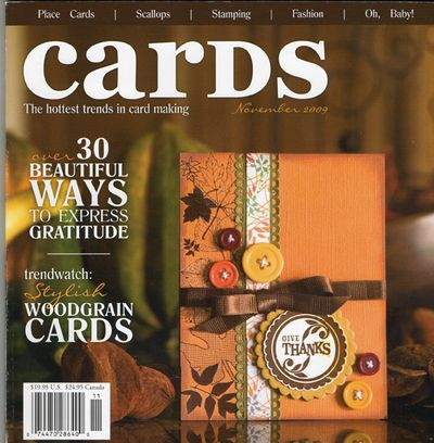Cards November 2009 cover
