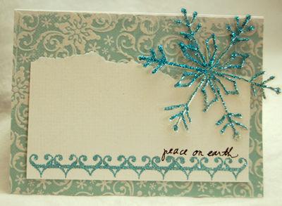 Peace on earth large snowflake