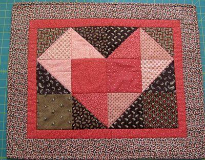 Valentine heart swap quilt