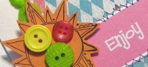 Close up of June Enjoy card for blog hop may10