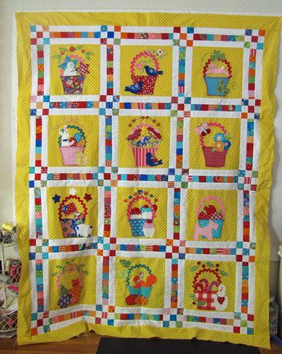 Tisket tasket basket bunny hill quilt 1