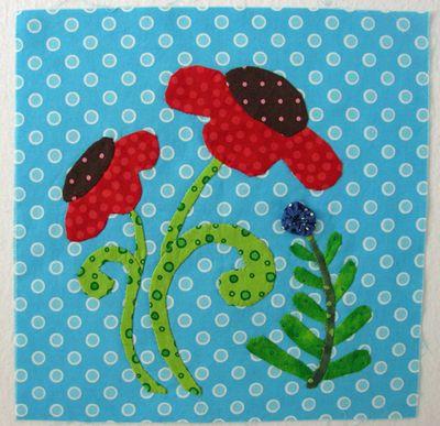 Polka dot garden block 3