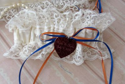 Katies wedding garter July 10