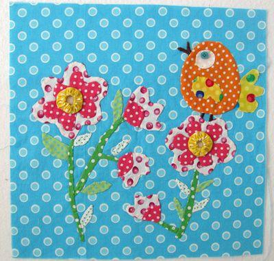Polka dot garden block 1