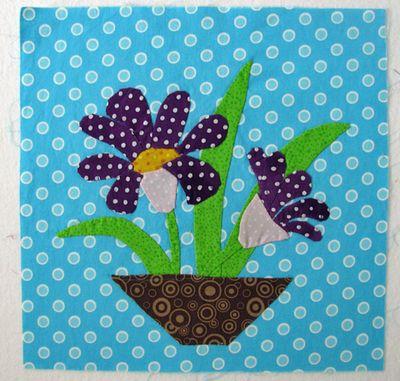 Polka dot garden block 2