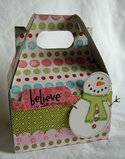 I believe in Christmas gift box