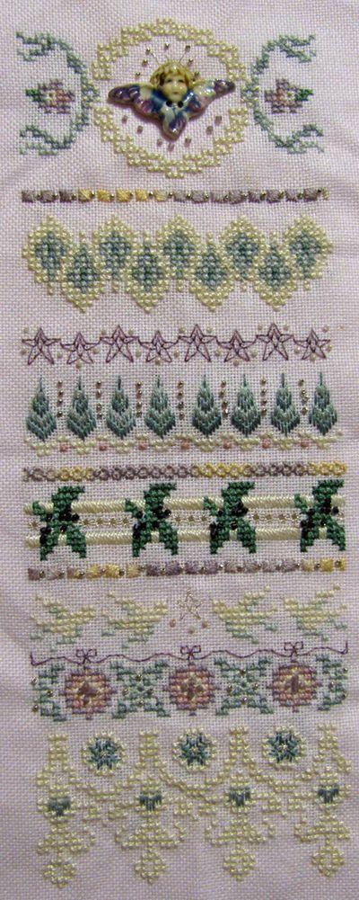 Pink christmas angel cross stitch