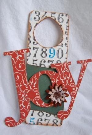 Joy vintage door hanger
