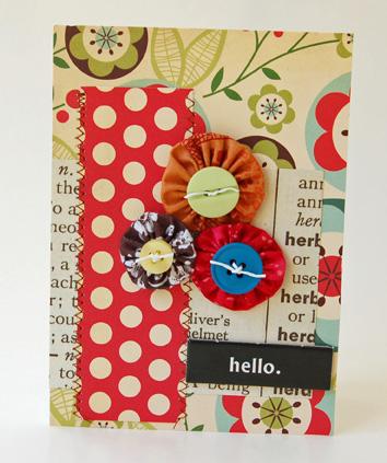 Hello yo yo flowers July09