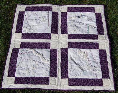 Wedding dress crazy quilt 1