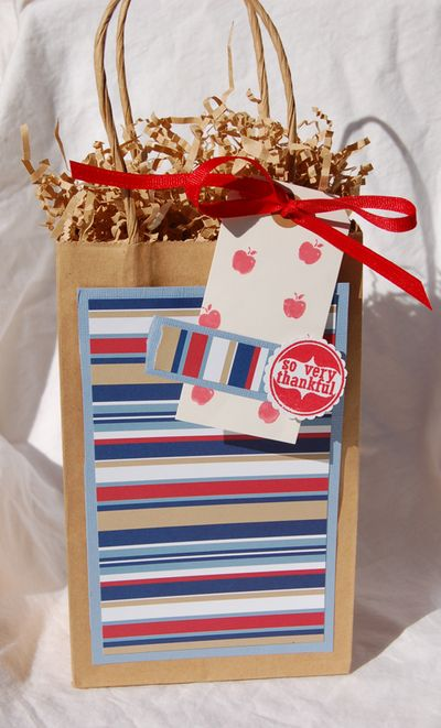 Thankful teachers gift bag