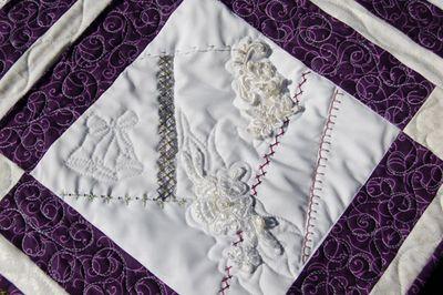 Wedding dress crazy quilt 2