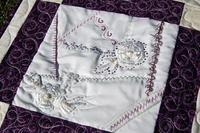 Wedding dress crazy quilt 4
