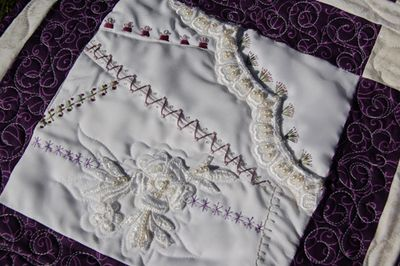 Wedding dress crazy quilt 5