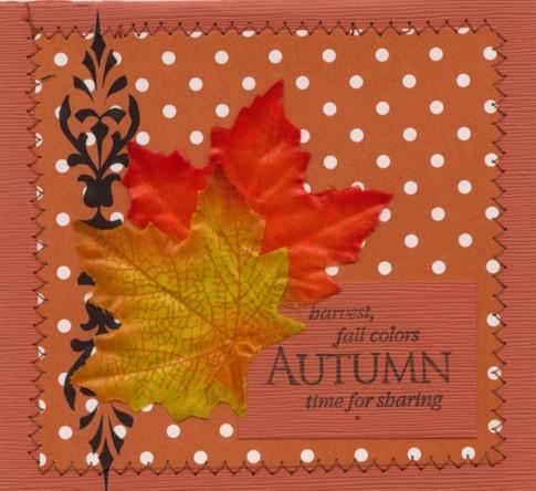 Autumn boxer card