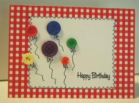 Happy birthday button balloons