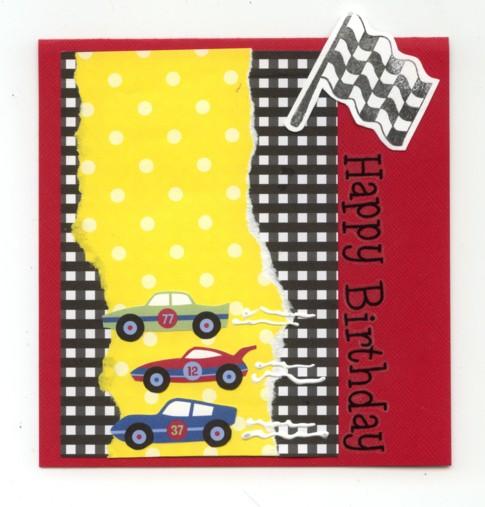 Hbday race car card