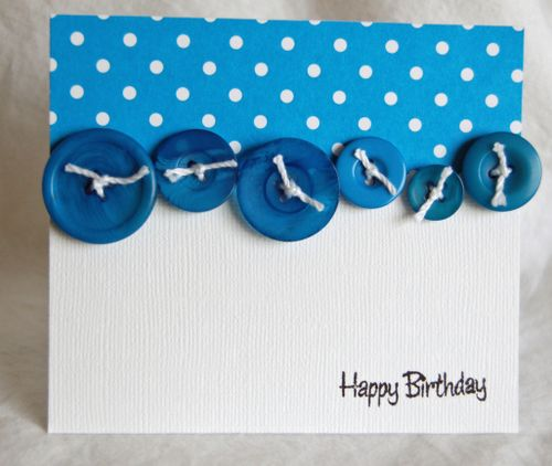 Teal button happy birthday