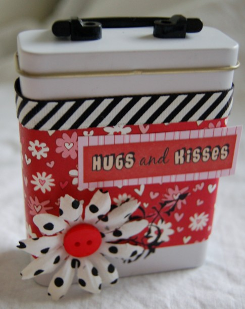 Hugs and Kisses bandaid tin