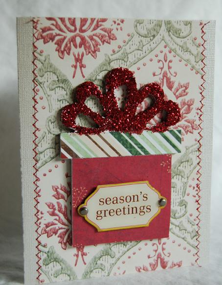 Season's greetings glitter present