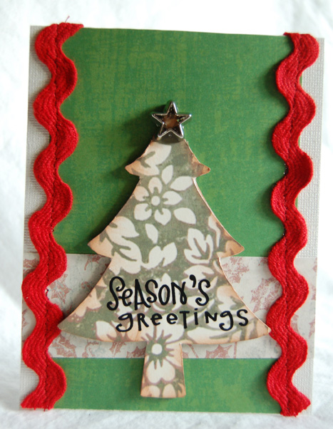 Season's greetings large tree