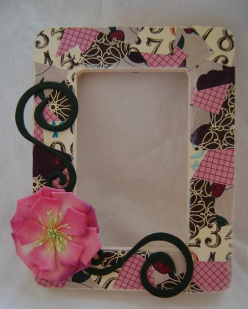 flower patchwork frame