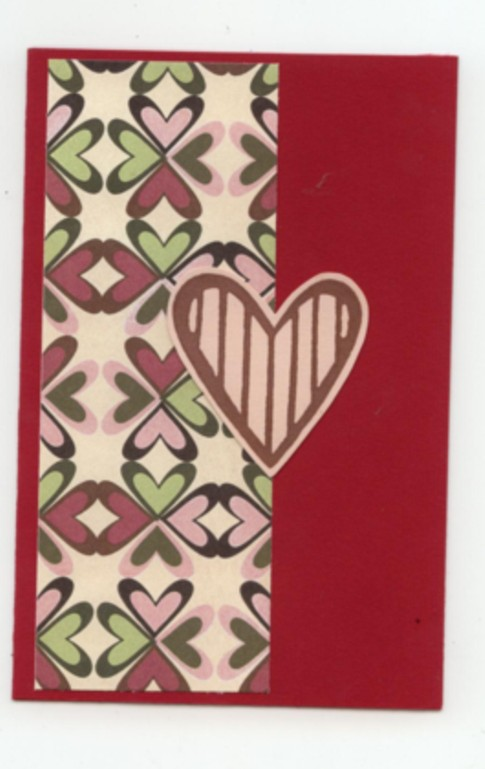 Heart stamped card