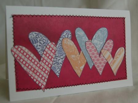 Many hearts card