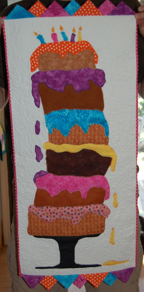 Crazy birthday cake banner