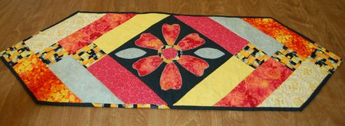 Flower Ugly table runner challenge 2010