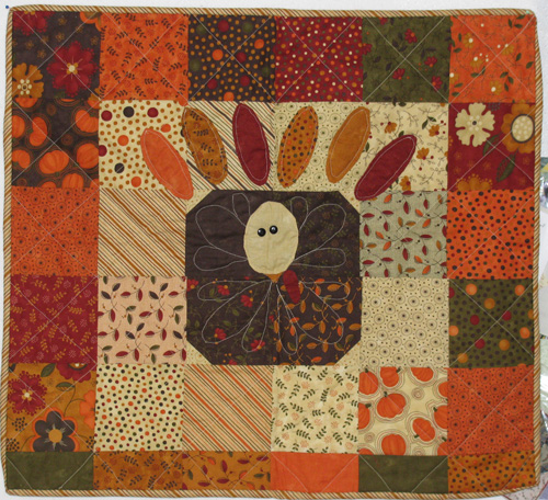 Gobble turkey quilt