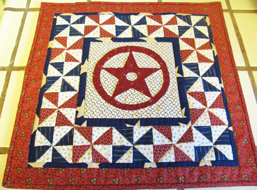 Jo small quilt july10