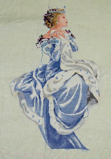 Winter queen cross stitch July09